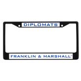 Metal License Plate Frame in Black-Diplomats