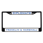 Metal License Plate Frame in Black-Diplomats