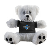 Plush Big Paw 8 1/2 inch White Bear w/Black Shirt-Diplomats Official Logo