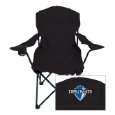 Deluxe Black Captains Chair-Diplomats Official Logo
