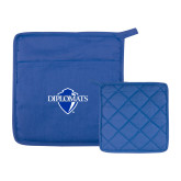 Quilted Canvas Royal Pot Holder-Diplomats Official Logo