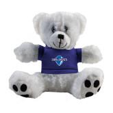 Plush Big Paw 8 1/2 inch White Bear w/Royal Shirt-Diplomats Official Logo