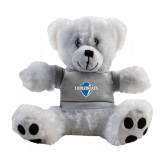 Plush Big Paw 8 1/2 inch White Bear w/Grey Shirt-Diplomats Official Logo