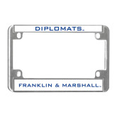 Metal Motorcycle License Plate Frame in Chrome-Diplomats
