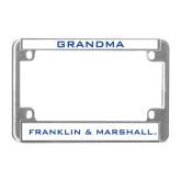 Metal Motorcycle License Plate Frame in Chrome-Grandma