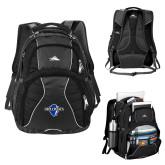 High Sierra Swerve Black Compu Backpack-Diplomats Official Logo