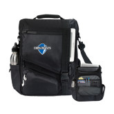 Momentum Black Computer Messenger Bag-Diplomats Official Logo