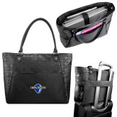 Sophia Checkpoint Friendly Black Compu Tote-Diplomats Official Logo