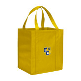 Non Woven Gold Grocery Tote-Primary Athletics Mark