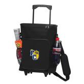 30 Can Black Rolling Cooler Bag-Primary Athletics Mark
