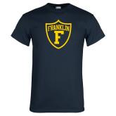 Navy T Shirt-Football Shield