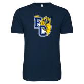 Next Level SoftStyle Navy T Shirt-Primary Athletics Mark