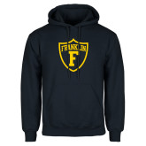 Navy Fleece Hoodie-Football Shield