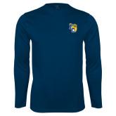 Performance Navy Longsleeve Shirt-Primary Athletics Mark