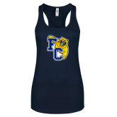 Next Level Ladies Navy Ideal Racerback Tank-Primary Athletics Mark