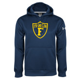 Under Armour Navy Performance Sweats Team Hoodie-Football Shield