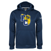 Under Armour Navy Performance Sweats Team Hoodie-Primary Athletics Mark