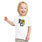 Toddler White T Shirt-Primary Athletics Mark