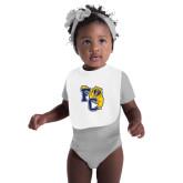 White Baby Bib-Primary Athletics Mark