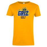Ladies Gold T Shirt-Golf