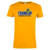 Ladies Gold T Shirt-Swim & Dive