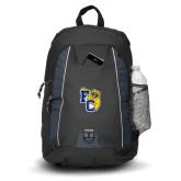 Impulse Black Backpack-Primary Athletics Mark