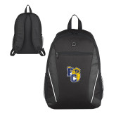 Atlas Black Computer Backpack-Primary Athletics Mark