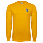 Gold Long Sleeve T Shirt-Primary Athletics Mark