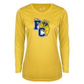 Ladies Syntrel Performance Gold Longsleeve Shirt-Primary Athletics Mark