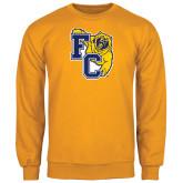 Gold Fleece Crew-Primary Athletics Mark