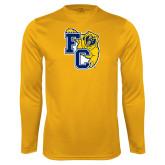 Syntrel Performance Gold Longsleeve Shirt-Primary Athletics Mark