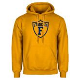 Gold Fleece Hoodie-Football Shield