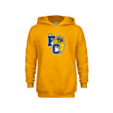 Youth Gold Fleece Hoodie-Primary Athletics Mark