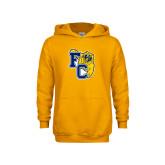 Youth Gold Fleece Hoodie-Primary Athletics Mark