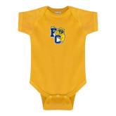 Gold Infant Onesie-Primary Athletics Mark