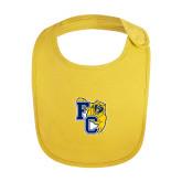 Yellow Baby Bib-Primary Athletics Mark