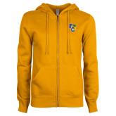ENZA Ladies Gold Fleece Full Zip Hoodie-Primary Athletics Mark