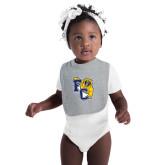 Grey Baby Bib-Primary Athletics Mark