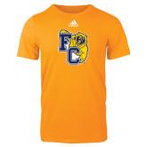Adidas Gold Logo T Shirt-Primary Athletics Mark