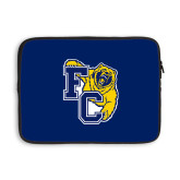 13 inch Neoprene Laptop Sleeve-Primary Athletics Mark, Background PMS 2757 Blue
