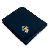 Navy Arctic Fleece Blanket-Primary Athletics Mark