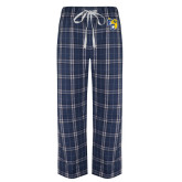 Navy/White Flannel Pajama Pant-Primary Athletics Mark