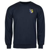 Navy Fleece Crew-Primary Athletics Mark