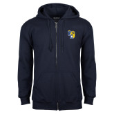 Navy Fleece Full Zip Hoodie-Primary Athletics Mark