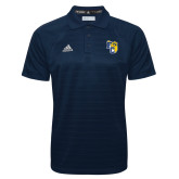 Adidas Climalite Navy Jacquard Select Polo-Primary Athletics Mark