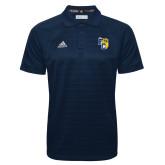 Adidas Climalite Navy Jacquard Select Polo-Primary Athletics Mark