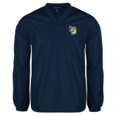 V Neck Navy Raglan Windshirt-Primary Athletics Mark