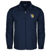 Full Zip Navy Wind Jacket-Primary Athletics Mark