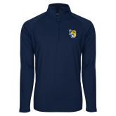 Sport Wick Stretch Navy 1/2 Zip Pullover-Primary Athletics Mark