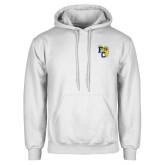 White Fleece Hoodie-Primary Athletics Mark